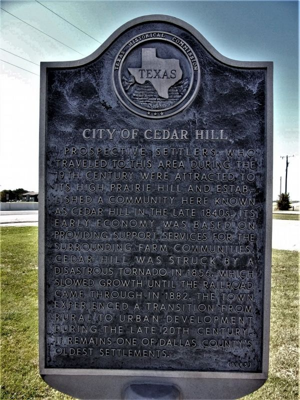 City of Cedar Hill Marker image. Click for full size.