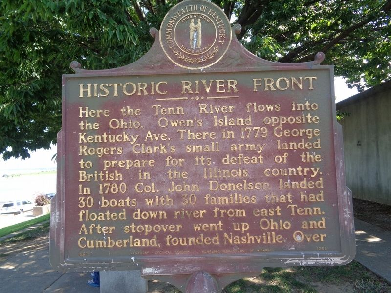 Historic Riverfront Marker image. Click for full size.
