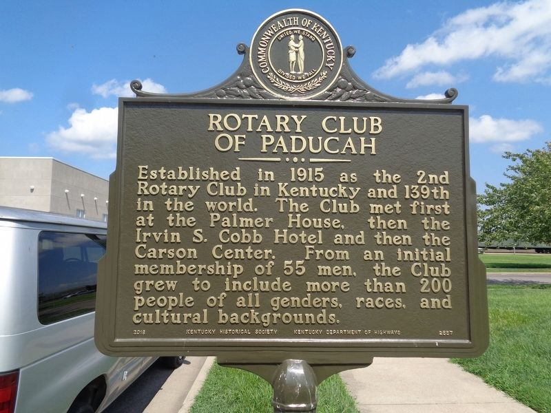 "Rotary Club of Paducah / ""Service Above Self"" Marker image. Click for full size."