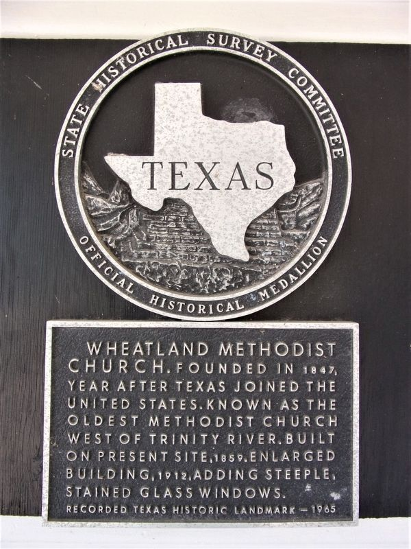 Wheatland Methodist Church Marker image. Click for full size.