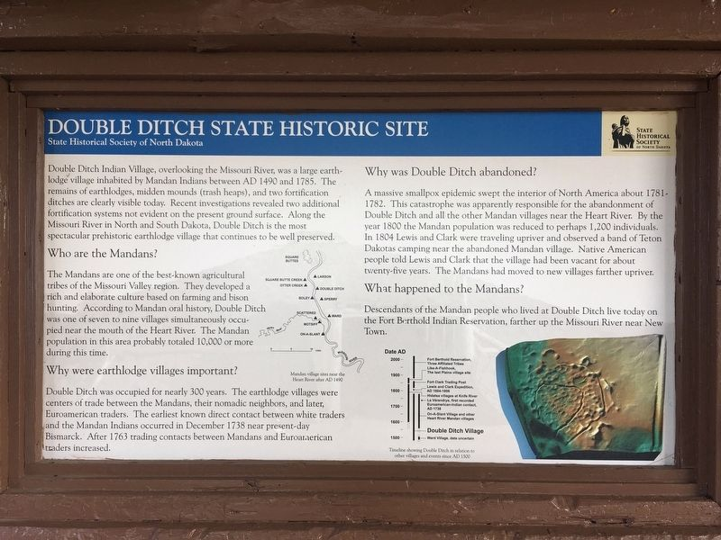 Double Ditch State Historic Site Marker image. Click for full size.