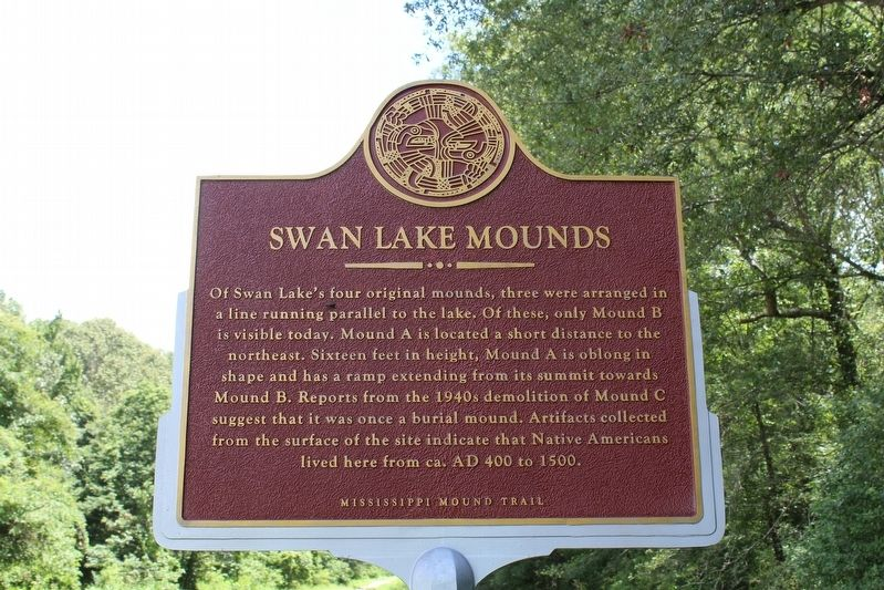Swan Lake Mounds Marker (Front) image. Click for full size.