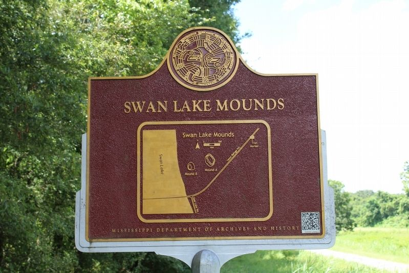 Swan Lake Mounds Marker (Back) image. Click for full size.