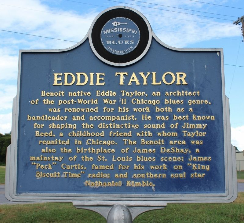 Eddie Taylor Marker (Front) image. Click for full size.