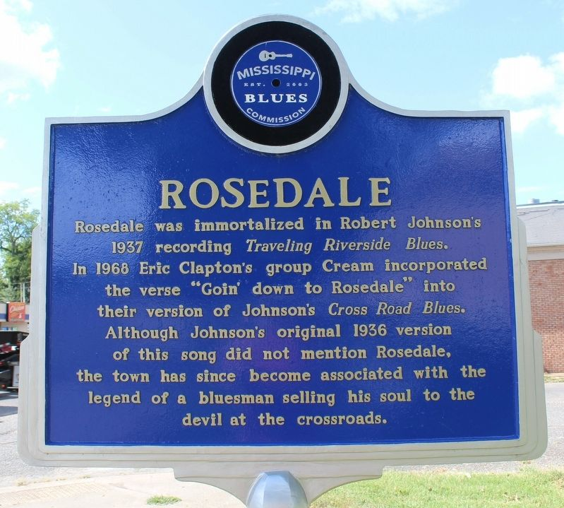 Rosedale Marker (Front) image. Click for full size.