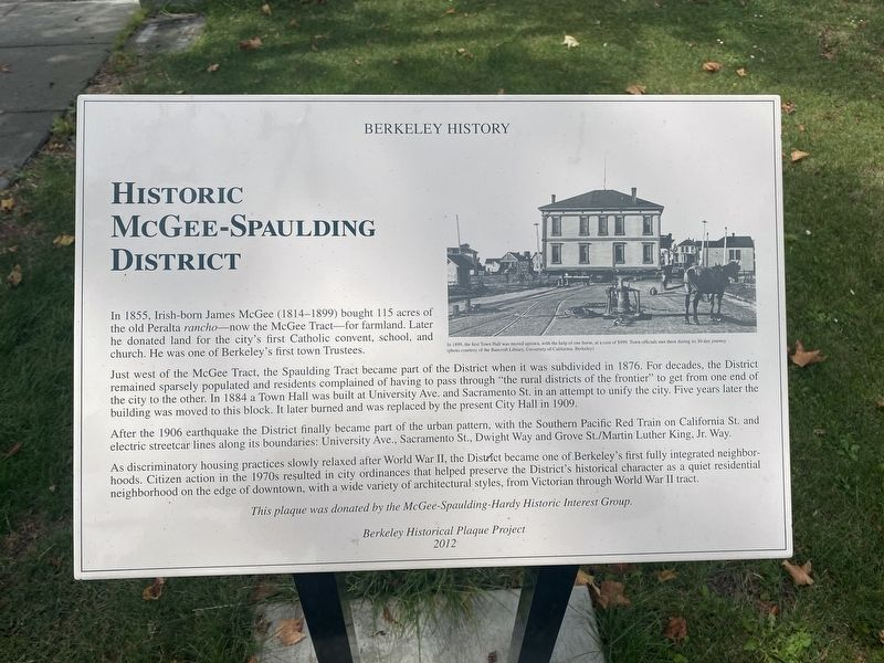 Historic McGee-Spaulding District Marker image. Click for full size.