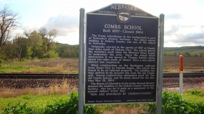 Combs School Marker image. Click for full size.