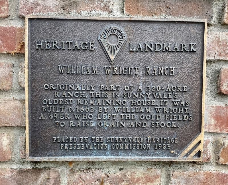 William Wright Ranch Marker image. Click for full size.