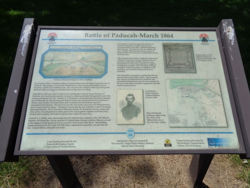 Battle of Paducah-March 1864 Marker image. Click for full size.