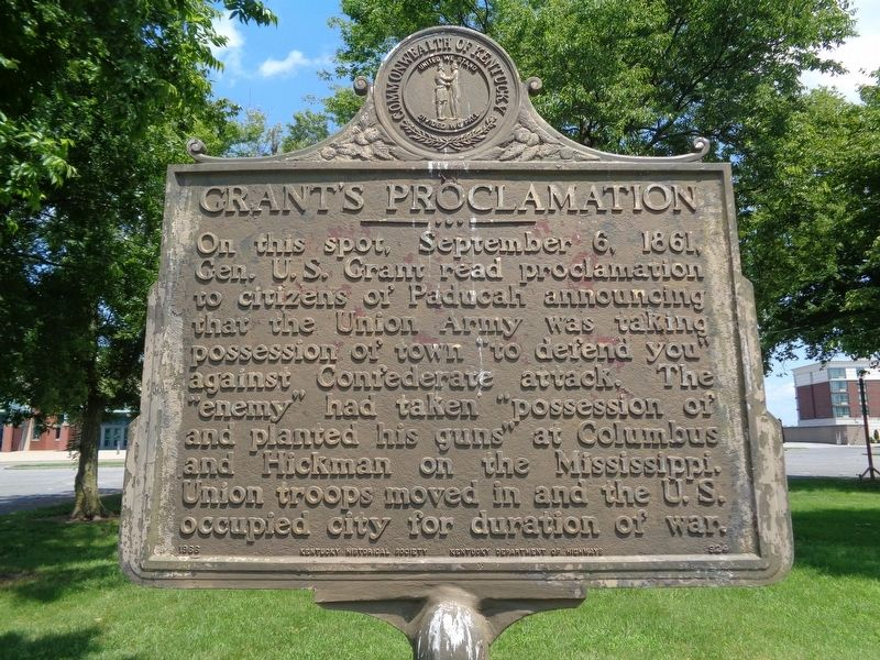 Grant's Proclamation Marker image. Click for full size.