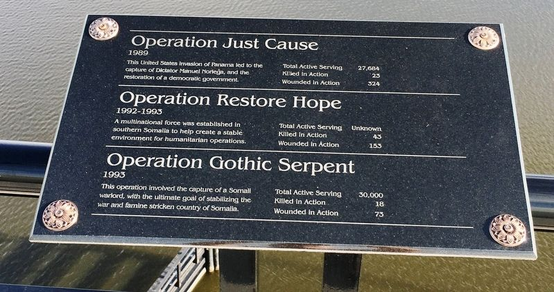 Operation Just Cause/Operation Restore Hope/Operation Gothic Serpent Marker image. Click for full size.