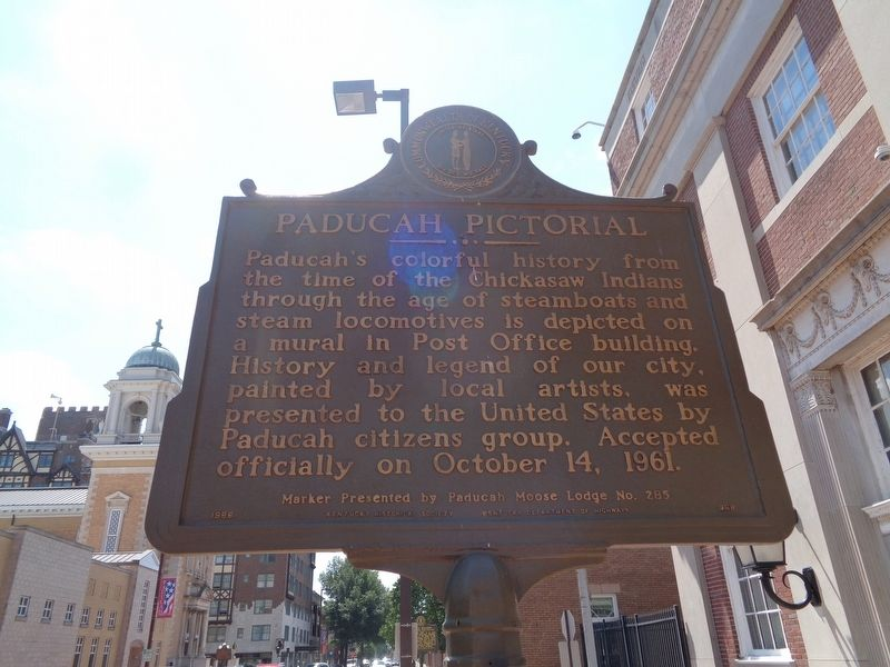 Paducah Pictorial Marker image. Click for full size.
