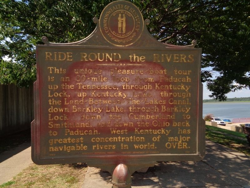 Ride Round The Rivers / Paducah Harbor Marker image. Click for full size.