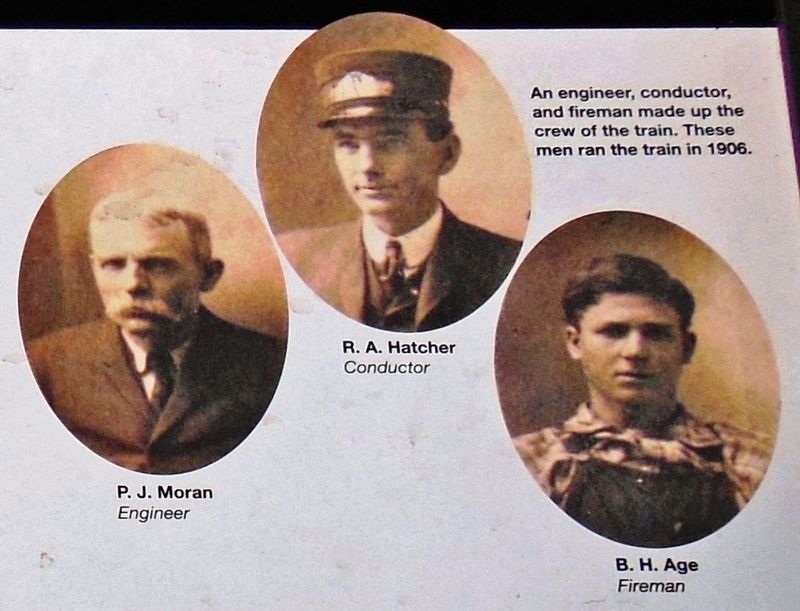 Marker detail: Engineer, Conductor and Fireman image. Click for full size.