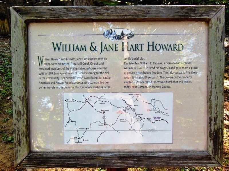 William & Jane Hart Howard Marker image. Click for full size.