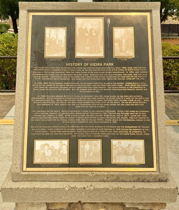 History of Vieira Park Marker image. Click for full size.