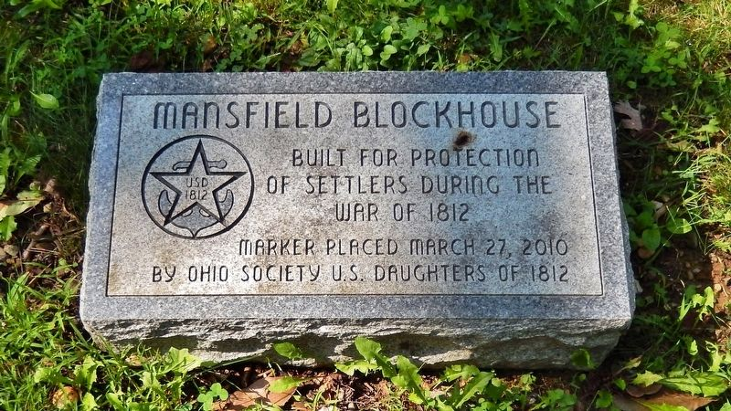 Mansfield Blockhouse Marker image. Click for full size.