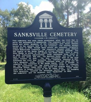 Sanksville Cemetery Marker image. Click for full size.