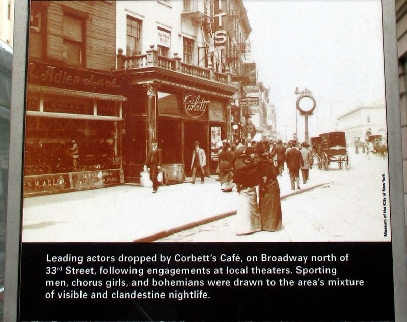 33rd Street Between Fifth Avenue and Broadway wayside, back detail image. Click for full size.