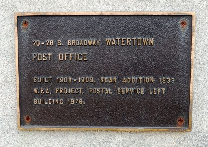 Watertown Post Office Marker image. Click for full size.