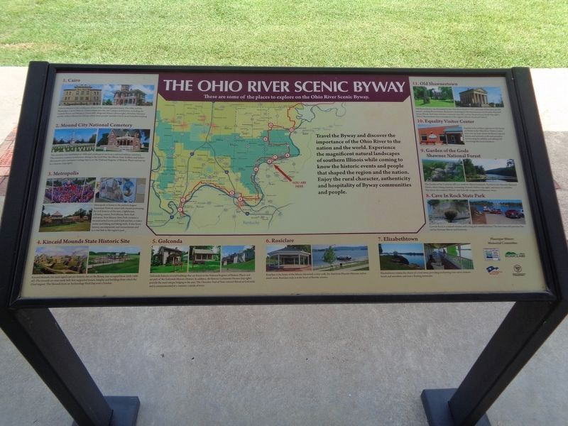 Ohio River Scenic Byway attractions (next to this marker on the right) image. Click for full size.