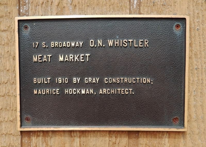 O. N. Whistler Meat Market Marker image. Click for full size.