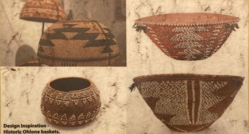 Marker detail: Inset photo - Historic Ohlone Baskets image. Click for full size.
