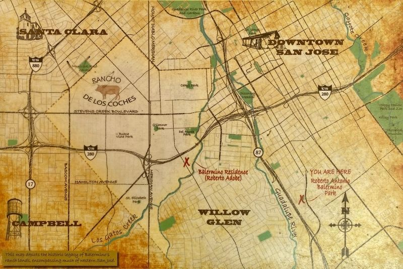 Marker detail: Map of San Jose image. Click for full size.