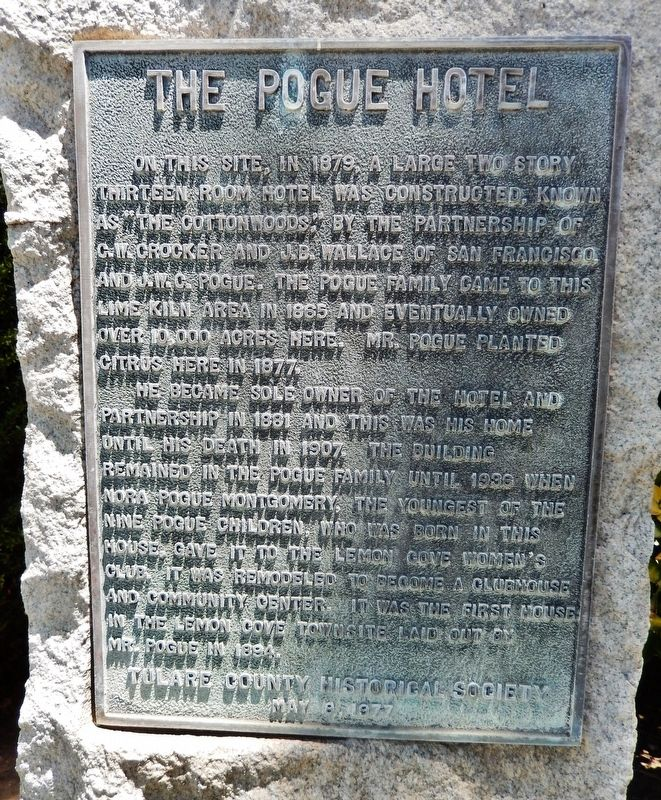 The Pogue Hotel Marker image. Click for full size.