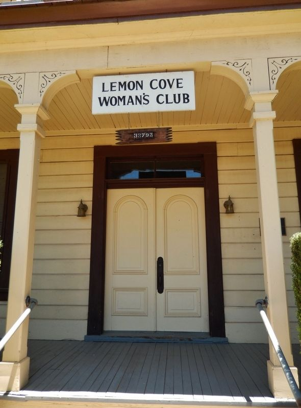 Lemon Cove Woman's Club Entrance image. Click for full size.