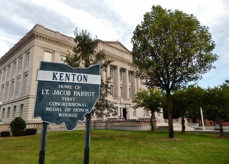 Kenton: Home of Lt. Jacob Parrot Marker image. Click for full size.