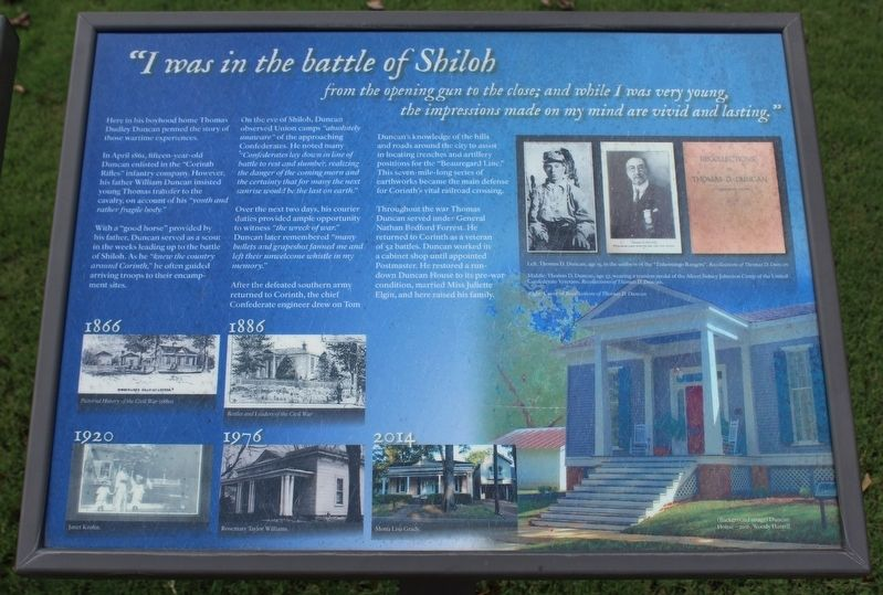 """I was in the battle of Shiloh Marker image. Click for full size."