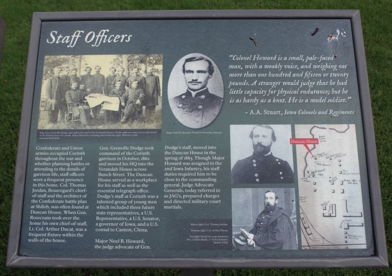 Staff Officers Marker image. Click for full size.
