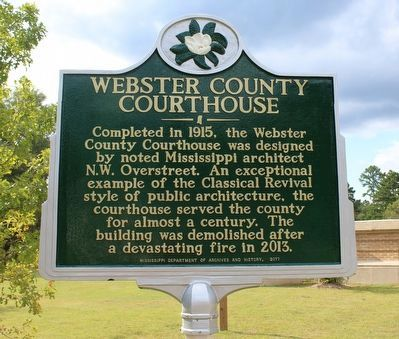 Webster County Courthouse Marker (Side 1) image. Click for full size.