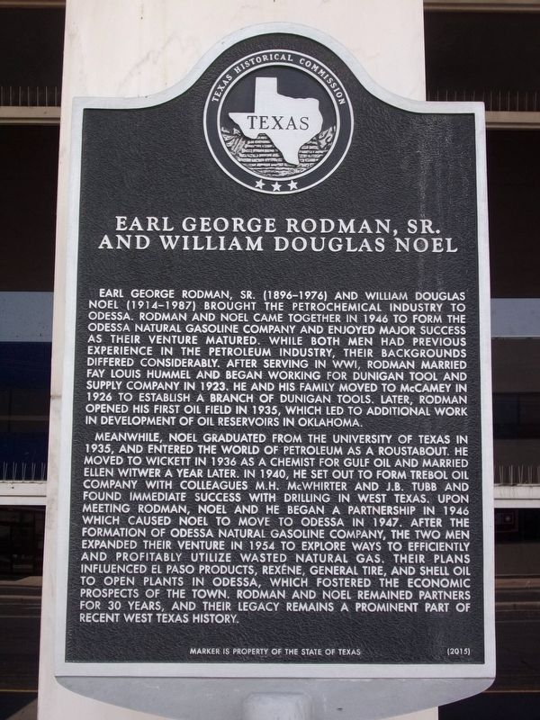 Earl George Rodman, Sr. and William Douglas Noel Marker image. Click for full size.