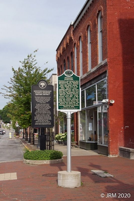 Buchanan Downtown Marker image. Click for full size.