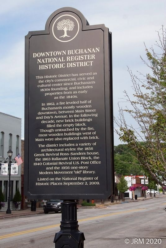 Downtown Buchanan Historic District Marker image. Click for full size.