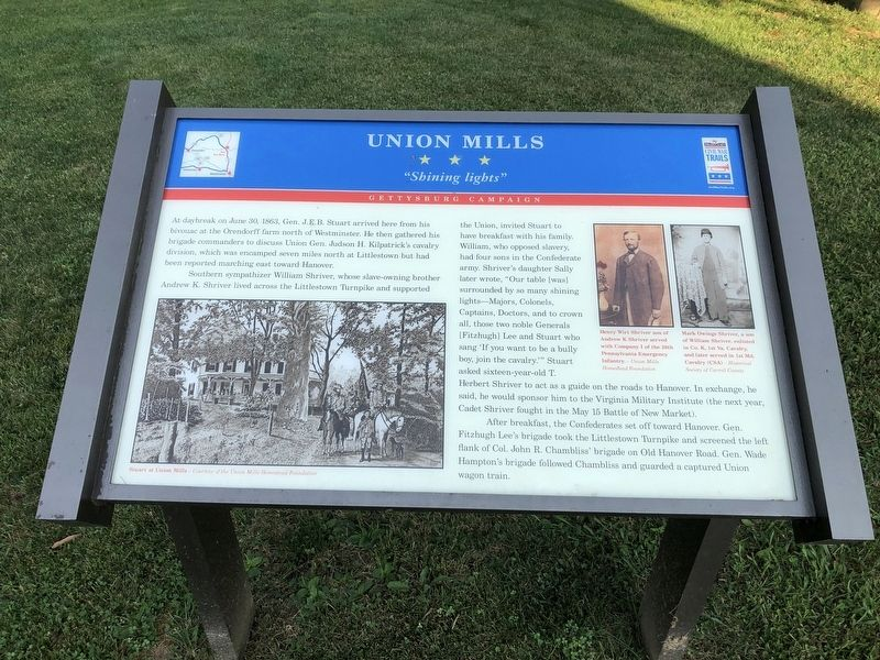 Union Mills Marker image. Click for full size.