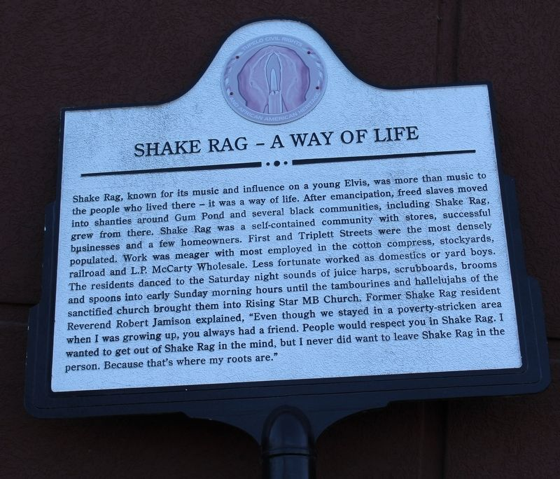 Shake Rag – A Way of Life Marker image. Click for full size.