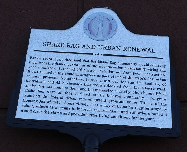 Shake Rag and Urban Renewal Marker image. Click for full size.