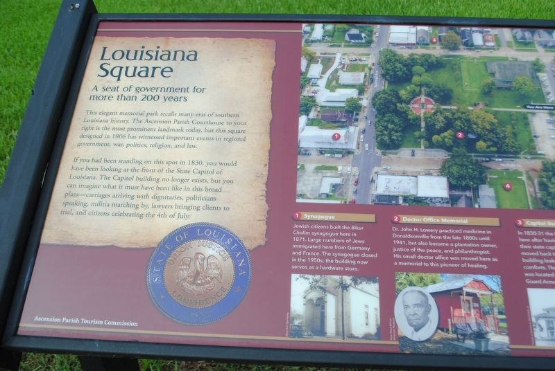 Louisiana Square Marker image. Click for full size.