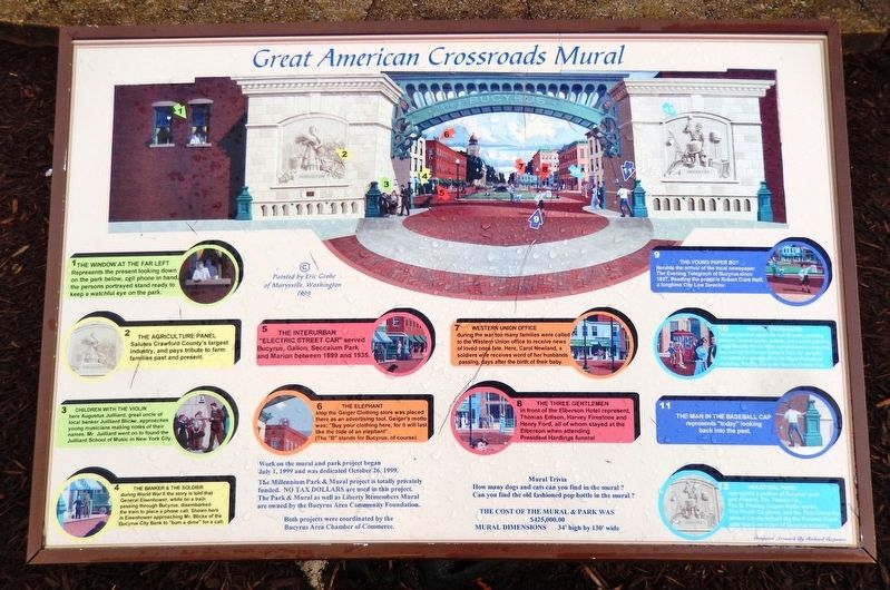 Great American Crossroads Mural Marker image. Click for full size.