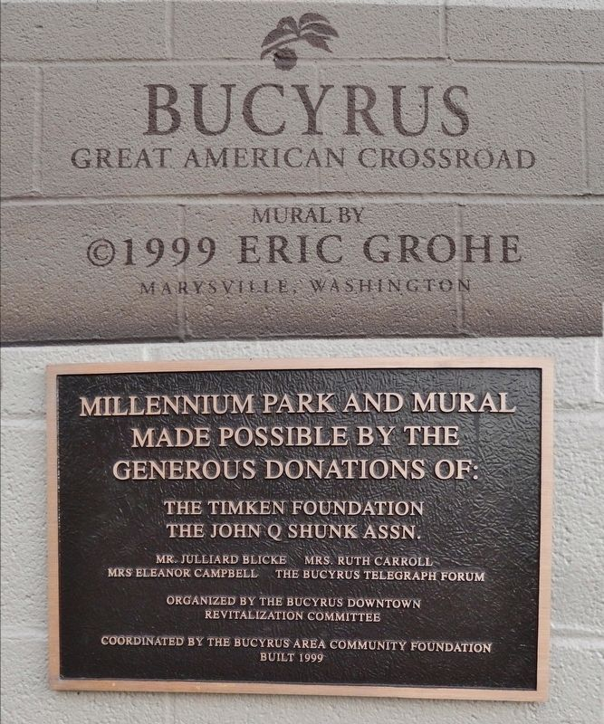 Great American Crossroads Mural Plaques image. Click for full size.