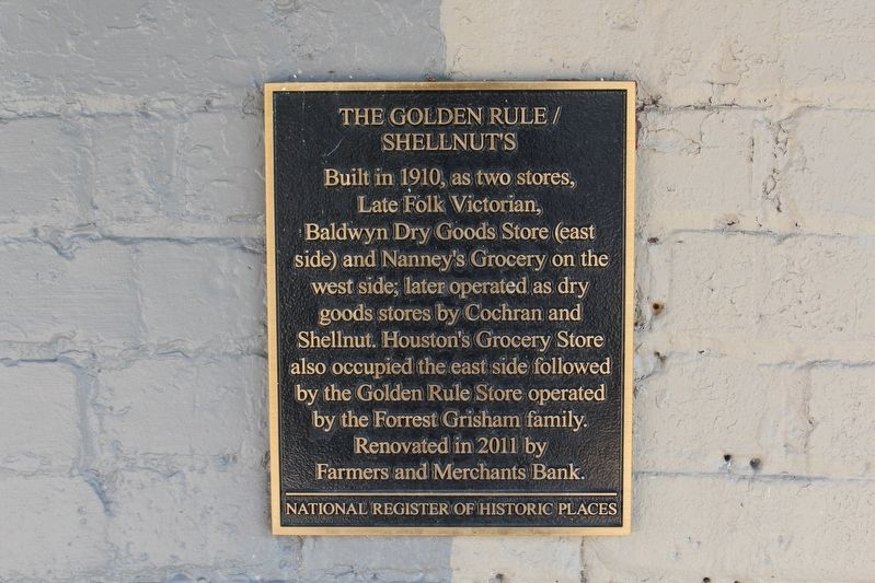 The Golden Rule / Shellnuts Marker image. Click for full size.