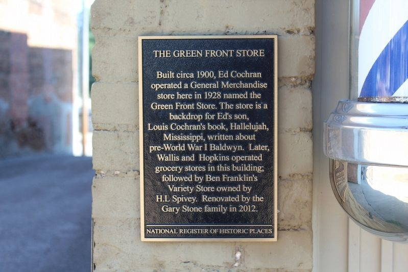 The Green Front Store Marker image. Click for full size.
