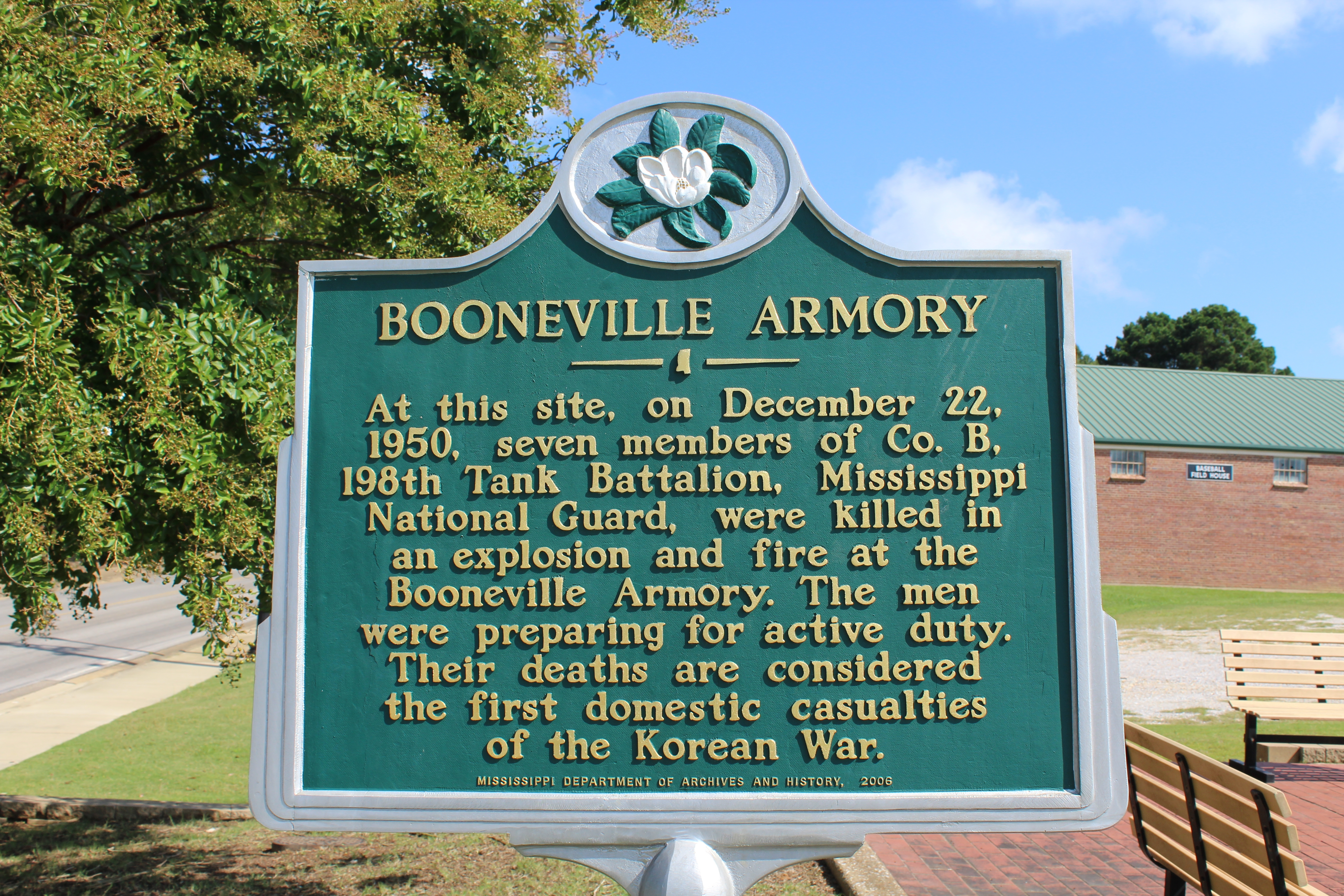 Booneville Armory Marker