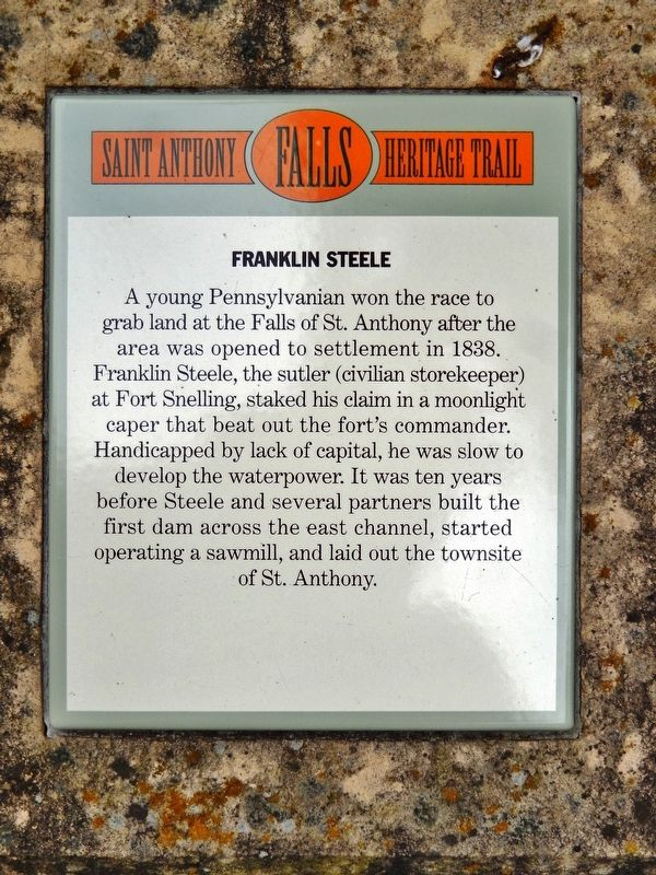Franklin Steele Marker image. Click for full size.