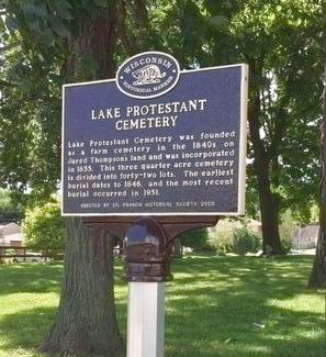 Lake Protestant Cemetery Marker image. Click for full size.