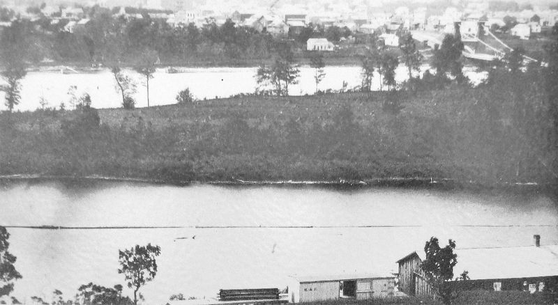 Marker detail: Nicollet Island, 1865 image. Click for full size.