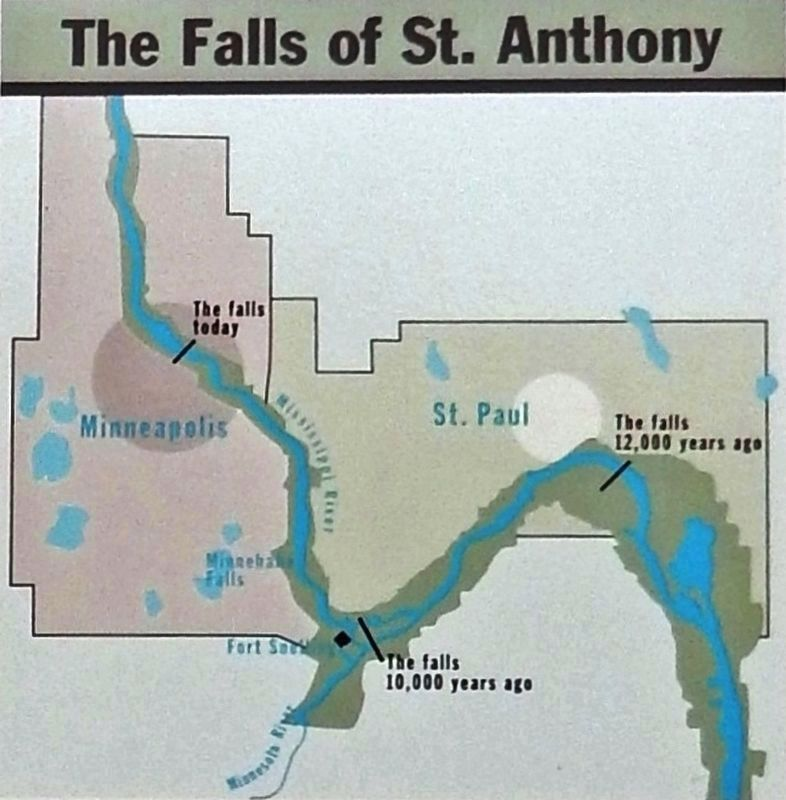 Marker detail: The Falls of St. Anthony image. Click for full size.